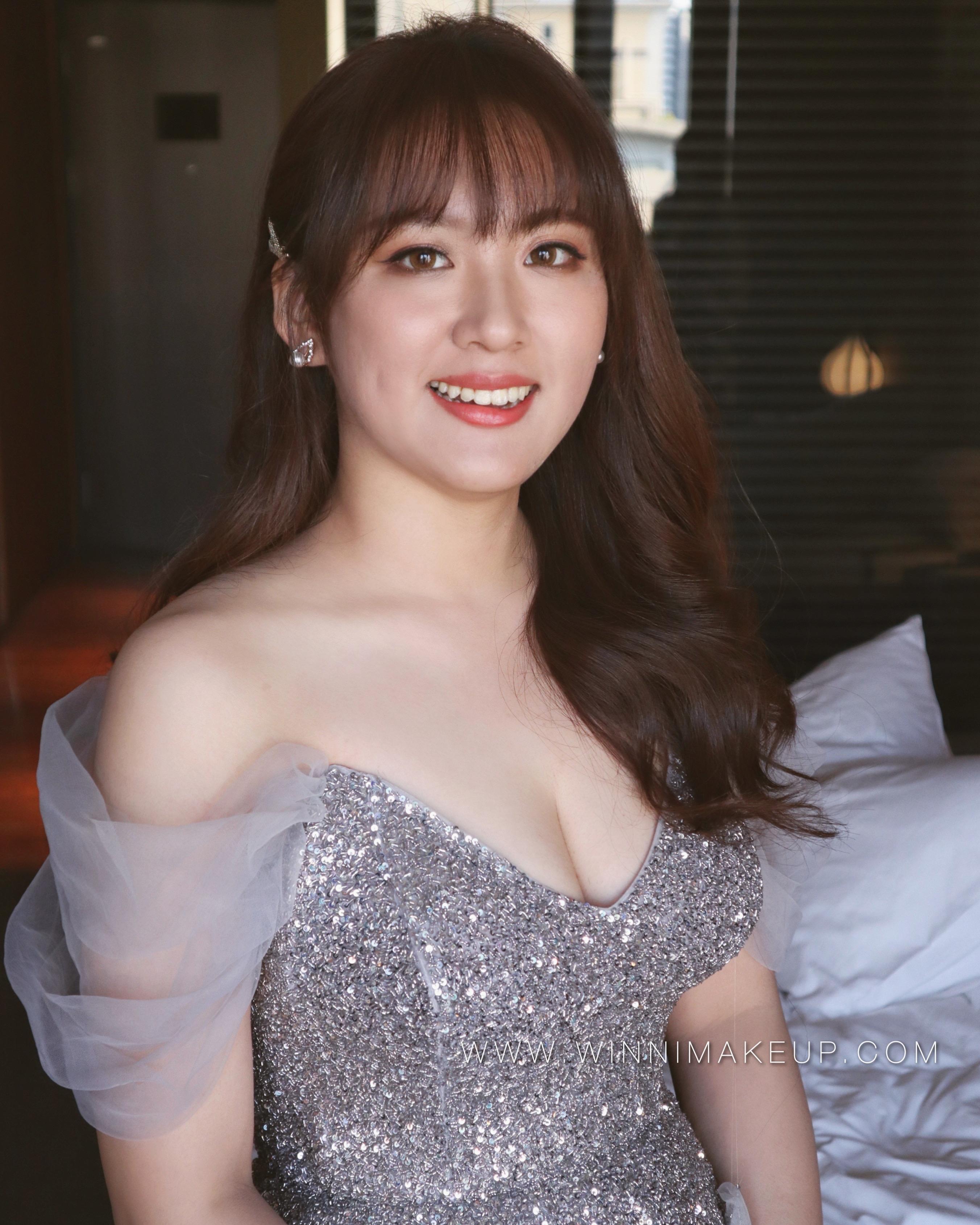 放髮造型_大波浪造型_韓系新娘造型_氣質新娘妝髮
