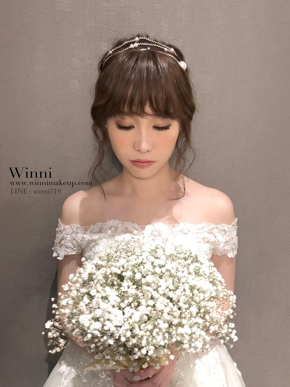 #自然新娘妝 #低盤髮造型 #新娘造型 #質感新娘