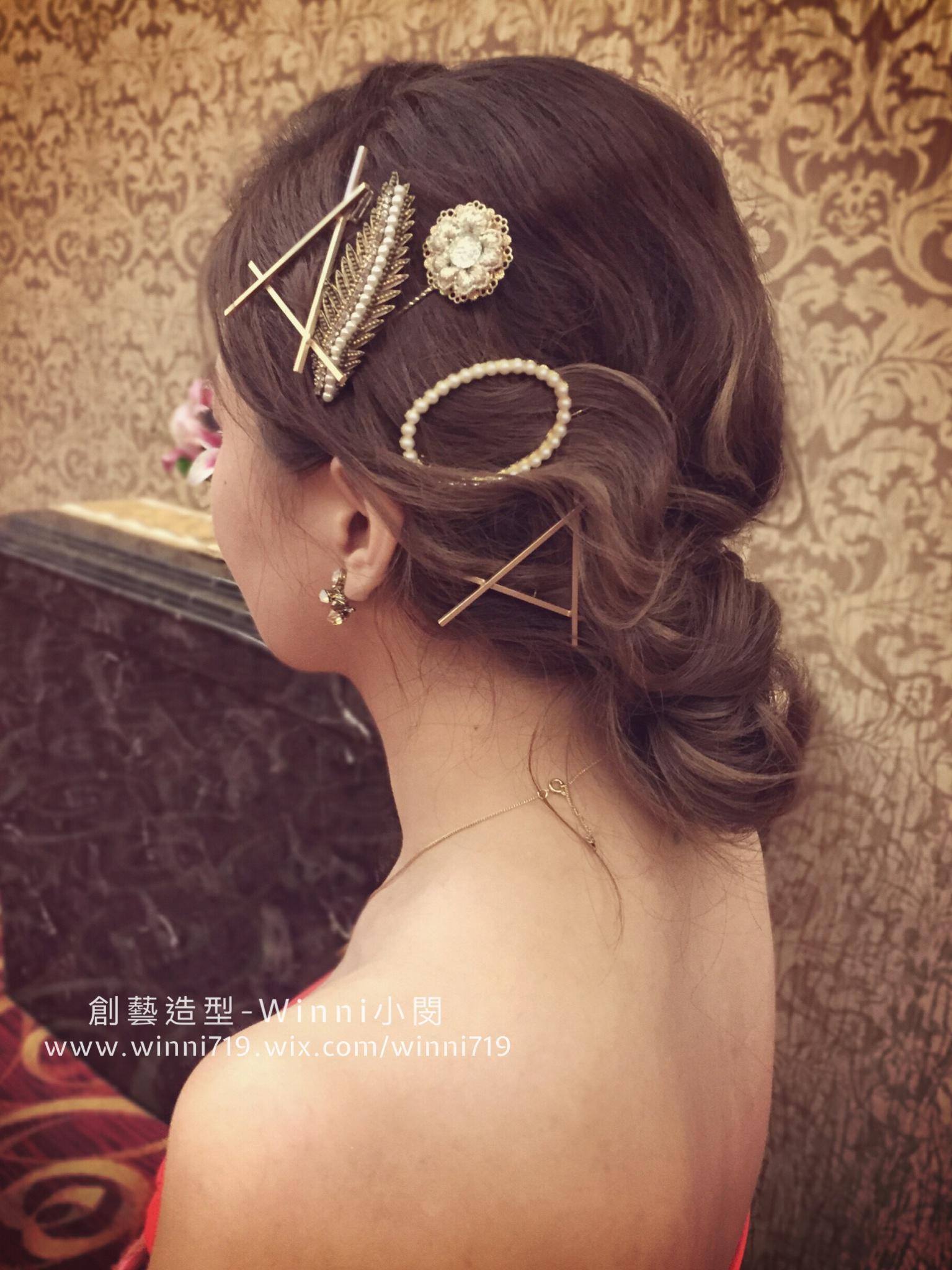 日系低盤髮-新娘造型
