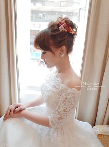 乾燥花白紗造型