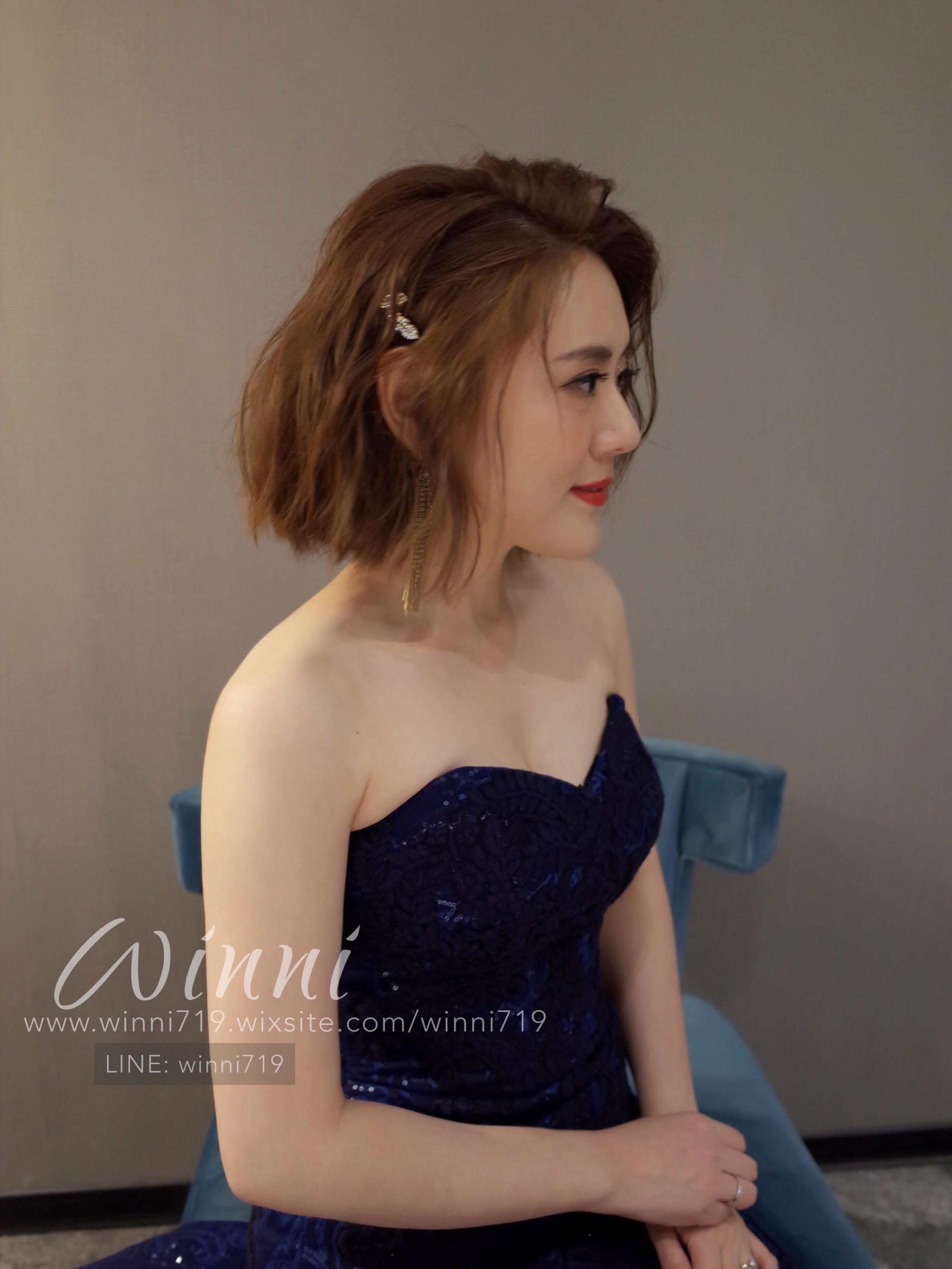 短髮新娘造型 質感妝髮