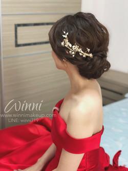 晚禮服造型/晚禮服盤髮造型