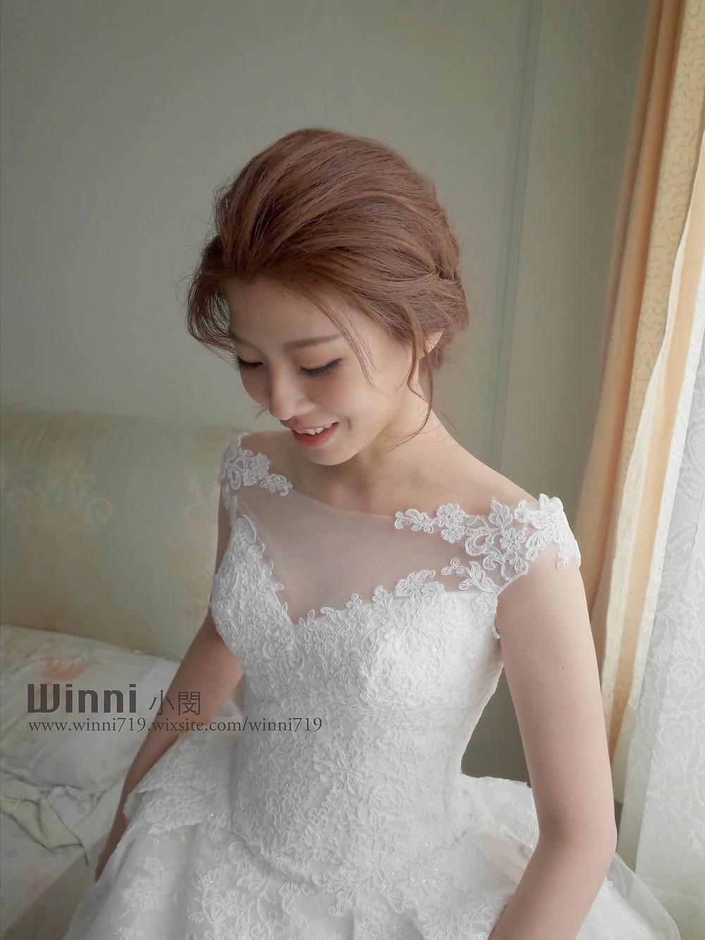 #白紗造型 #新娘造型 #低盤髮造型 #新娘妝 #短髮新娘 #編髮 #長頭紗  #永生花髮飾 #乾燥花髮飾 #韓系妝髮