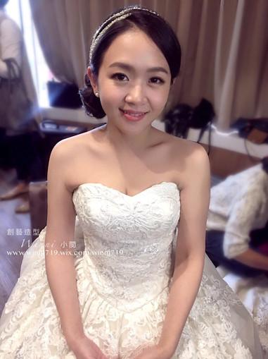 俐落質感-白紗新娘造型