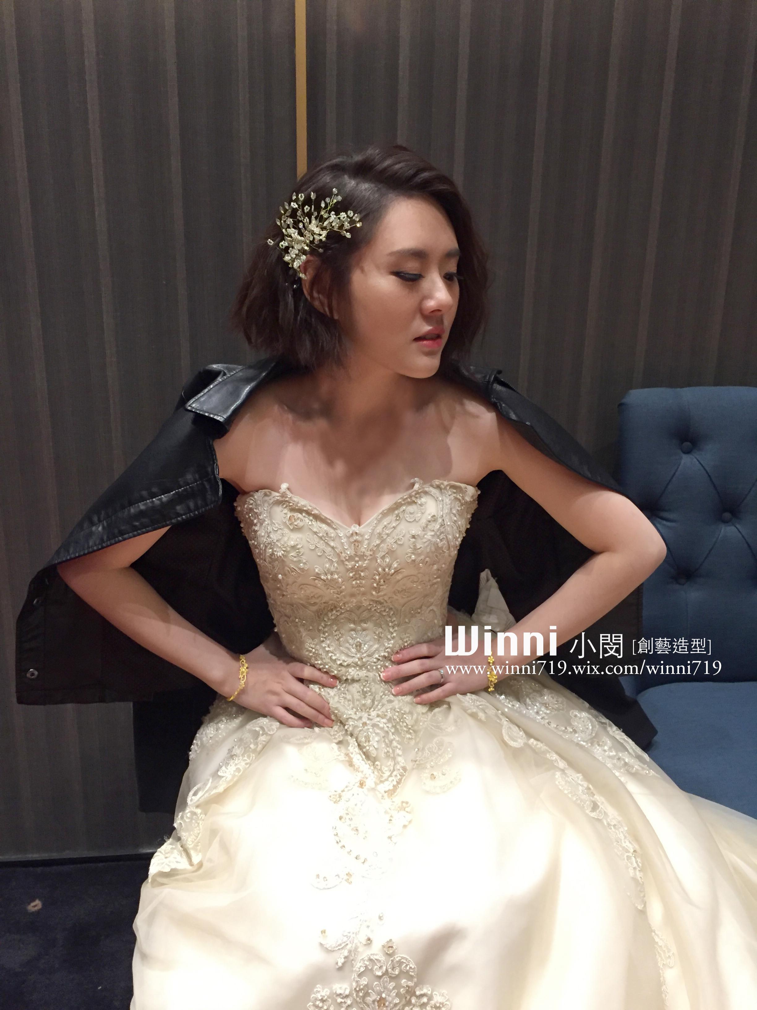 短髮韓系新娘造型