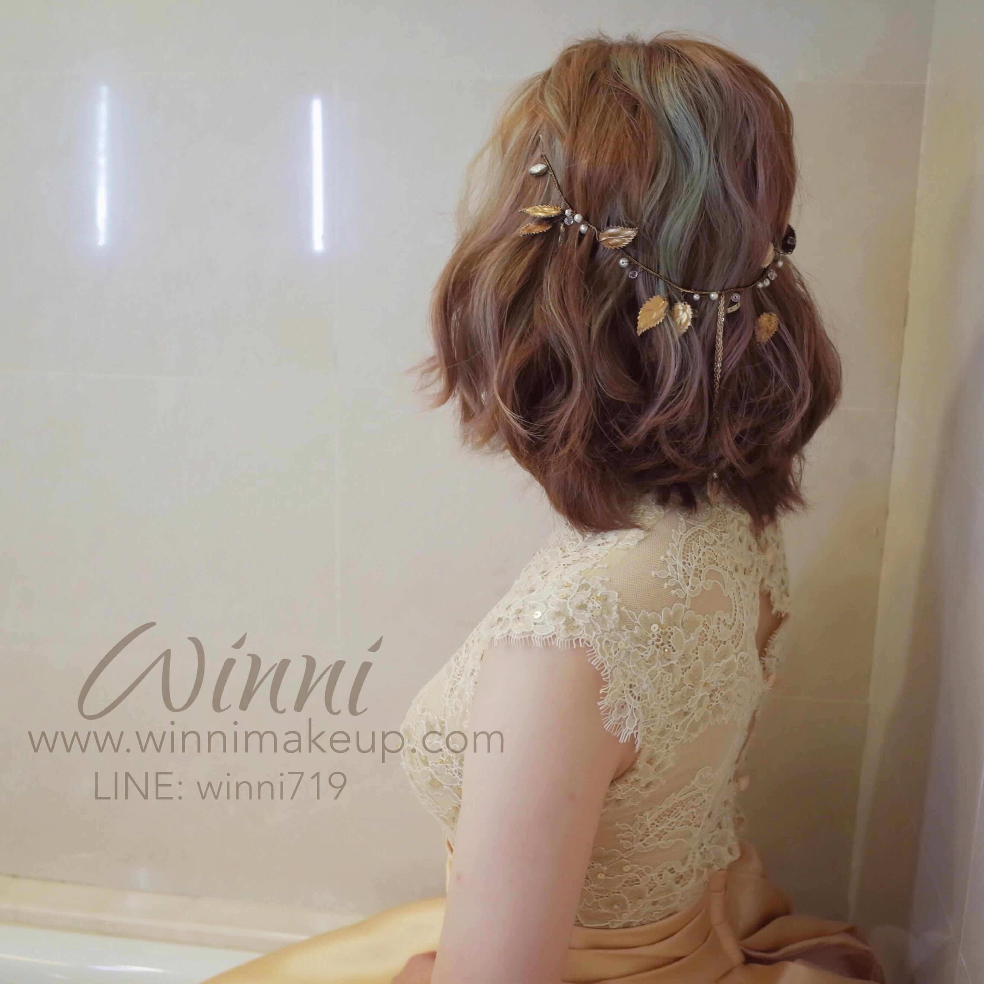 晚禮服造型/短髮新娘造型