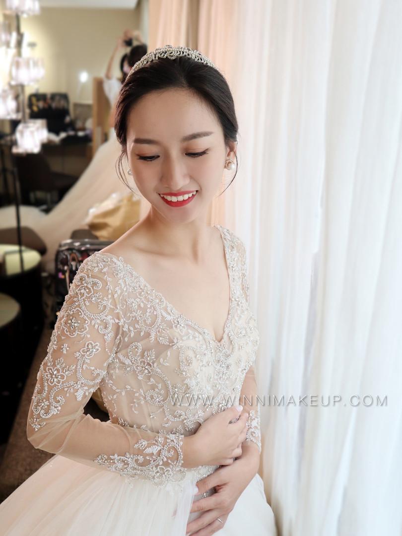 韓系新娘造型/氣質新娘妝髮.#白紗造型  #盤髮造型 jpg