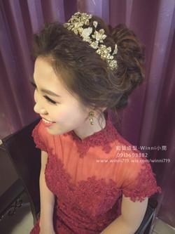 典雅氣質中盤髮-新娘造型