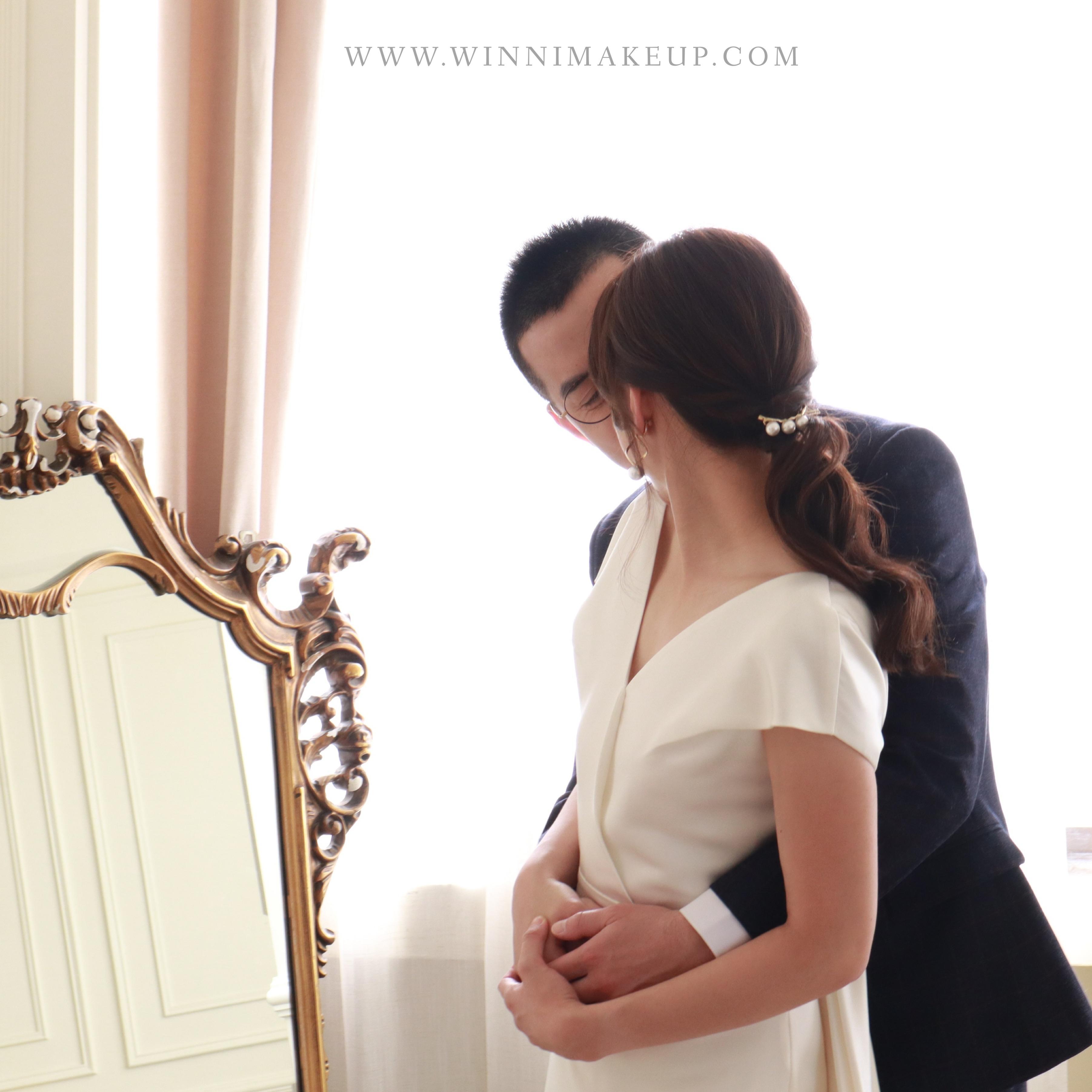 #低馬尾 #新娘造型 #質感新娘造型 #韓系低馬尾