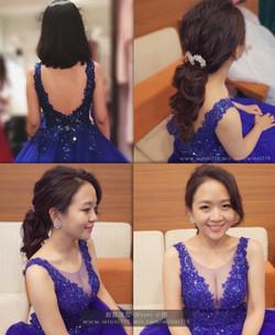 短髮接長髮-新娘造型