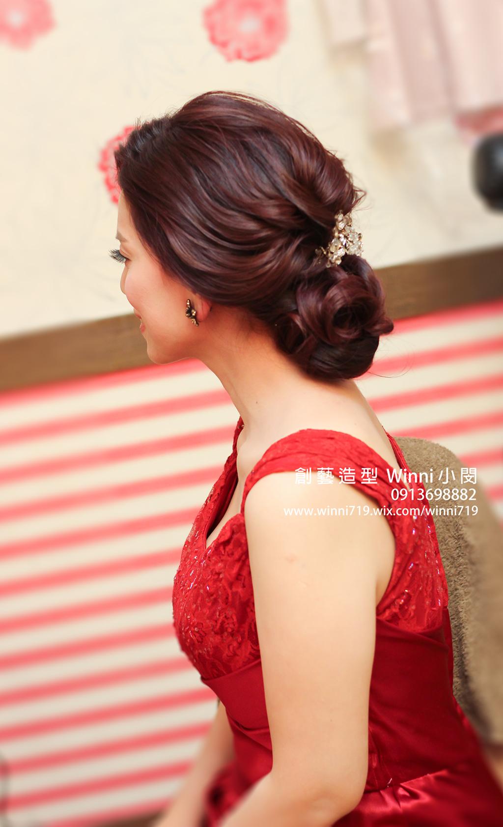 氣質低盤髮-新娘造型