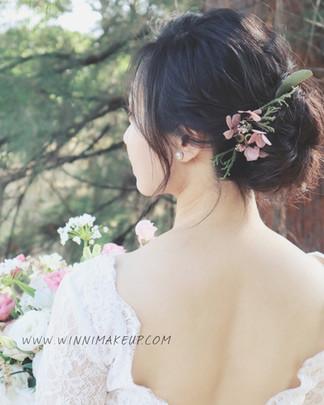 氣質低盤髮,氣質新娘