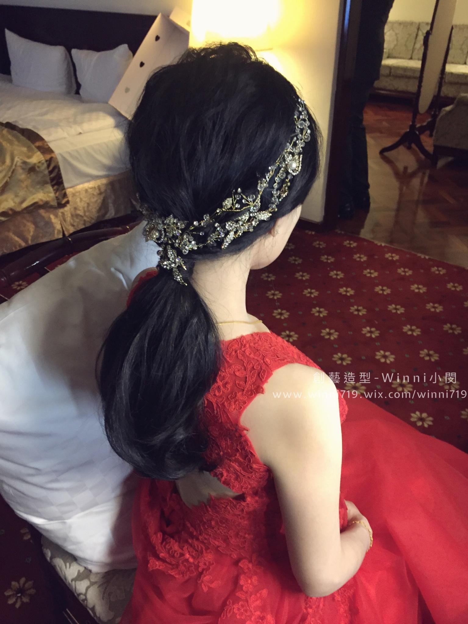 黑髮低馬尾-新娘造型