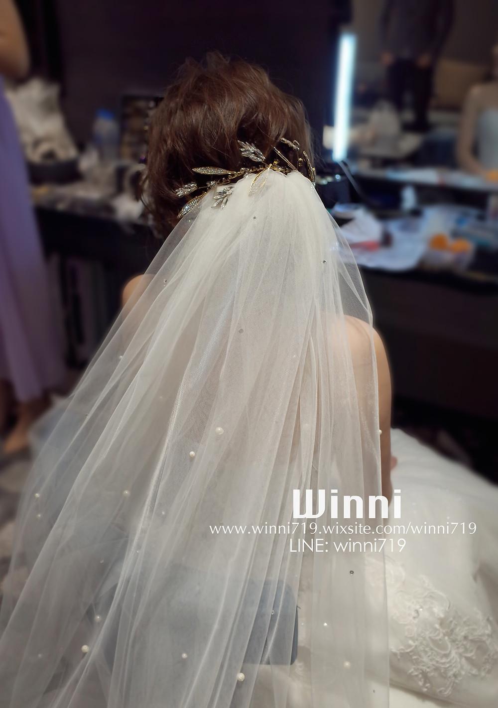 #白紗造型 #新娘造型 #低盤髮造型 #新娘妝 #短髮新娘 #編髮 #長頭紗