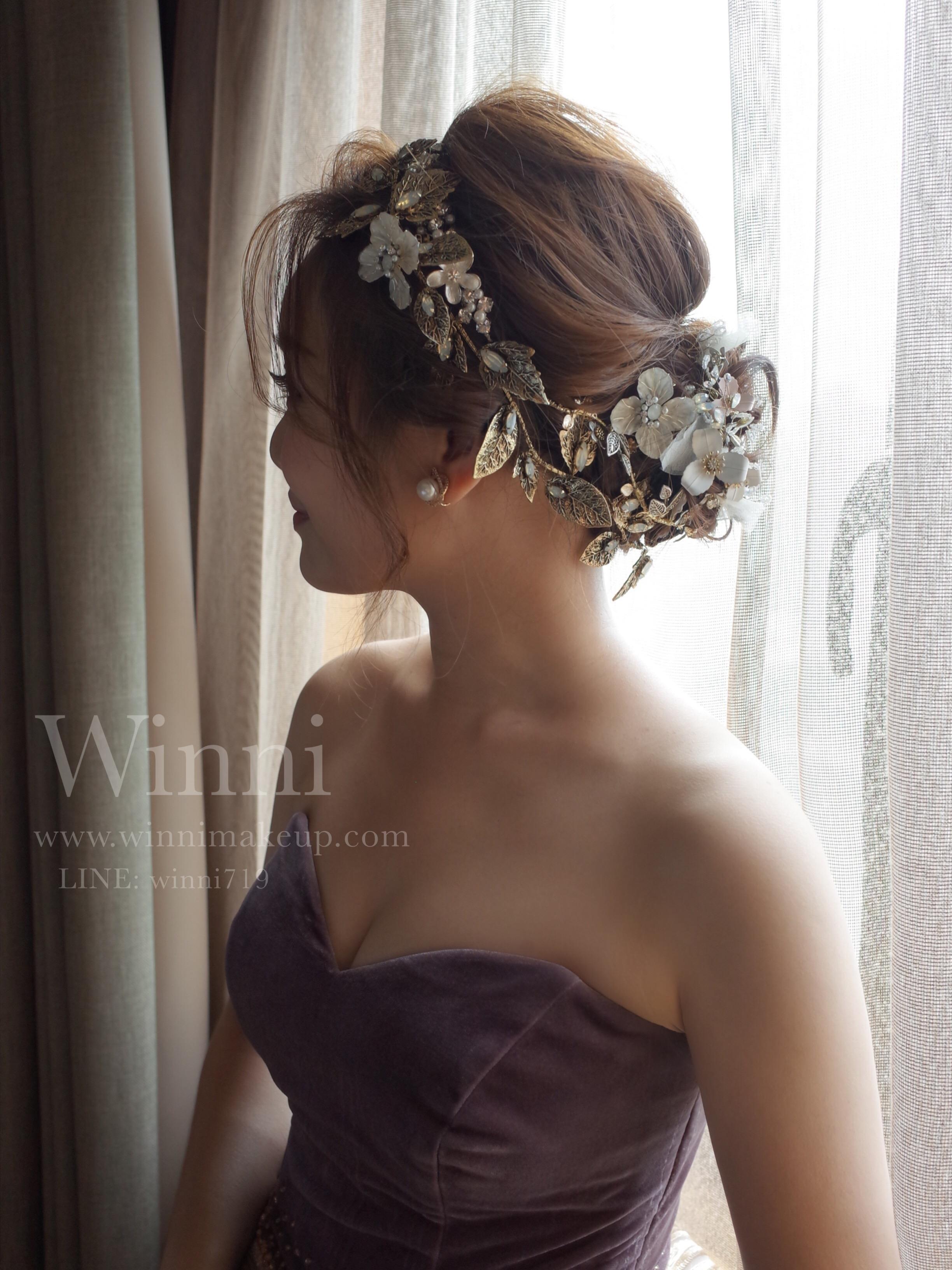 #巴洛克風格 #低調奢華 #低盤髮造型 #進場造型 #晚禮服造型