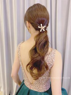 #低馬尾 #新娘造型 #韓系新娘造型