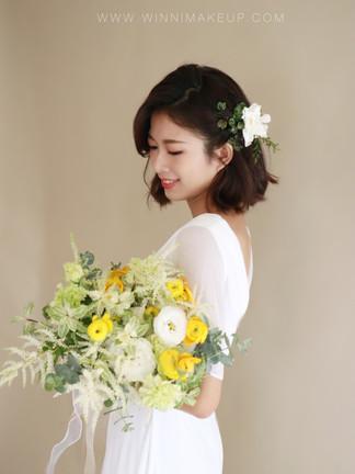 短髮造型#白紗造型 #新娘造型  #氣質新娘 #短髮新娘 #韓系新娘造型