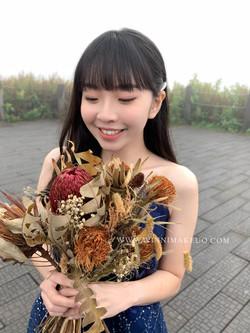 #放髮造型#新娘造型 #韓系新娘造型0