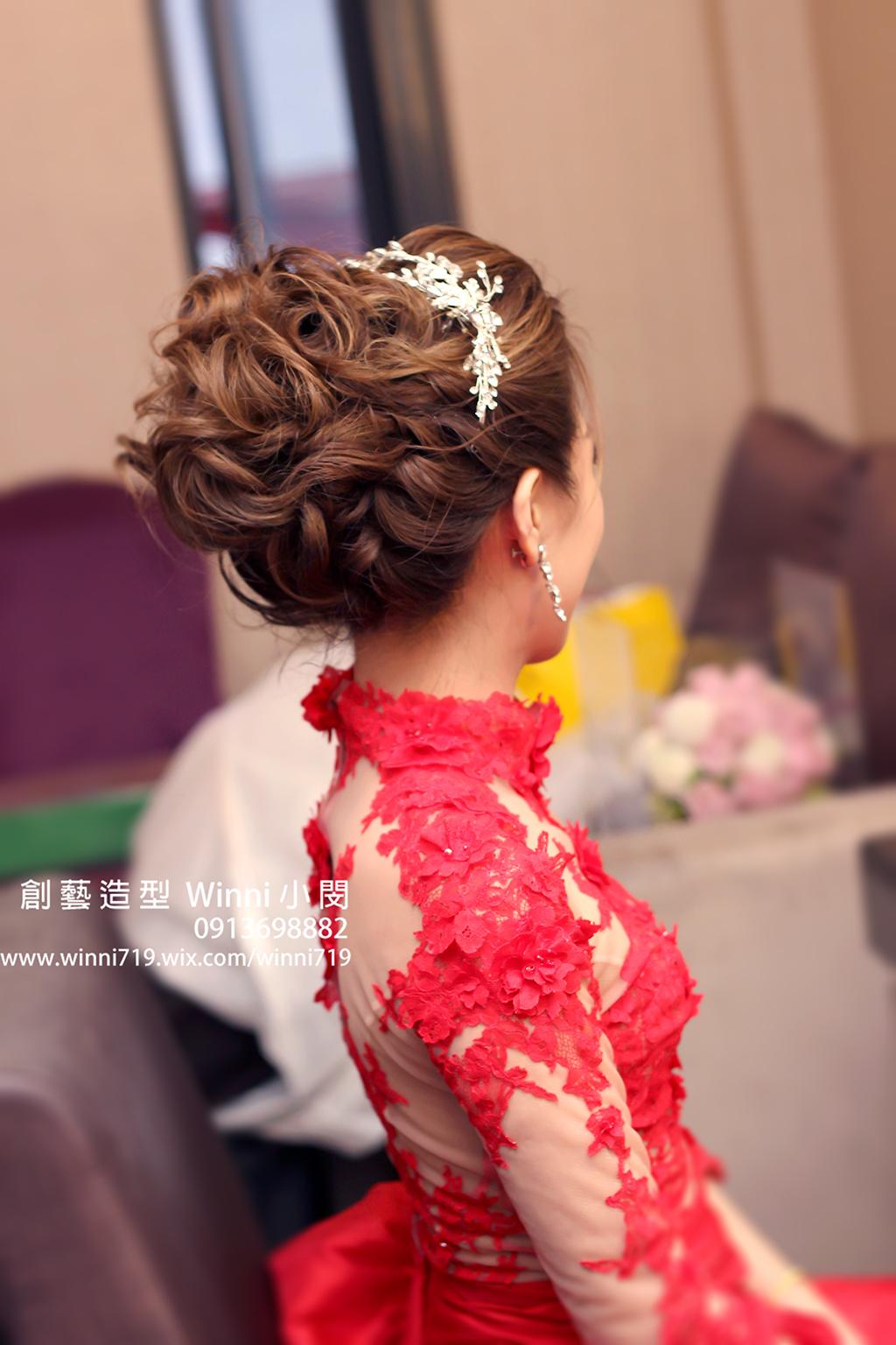 時尚後梳-新娘造型