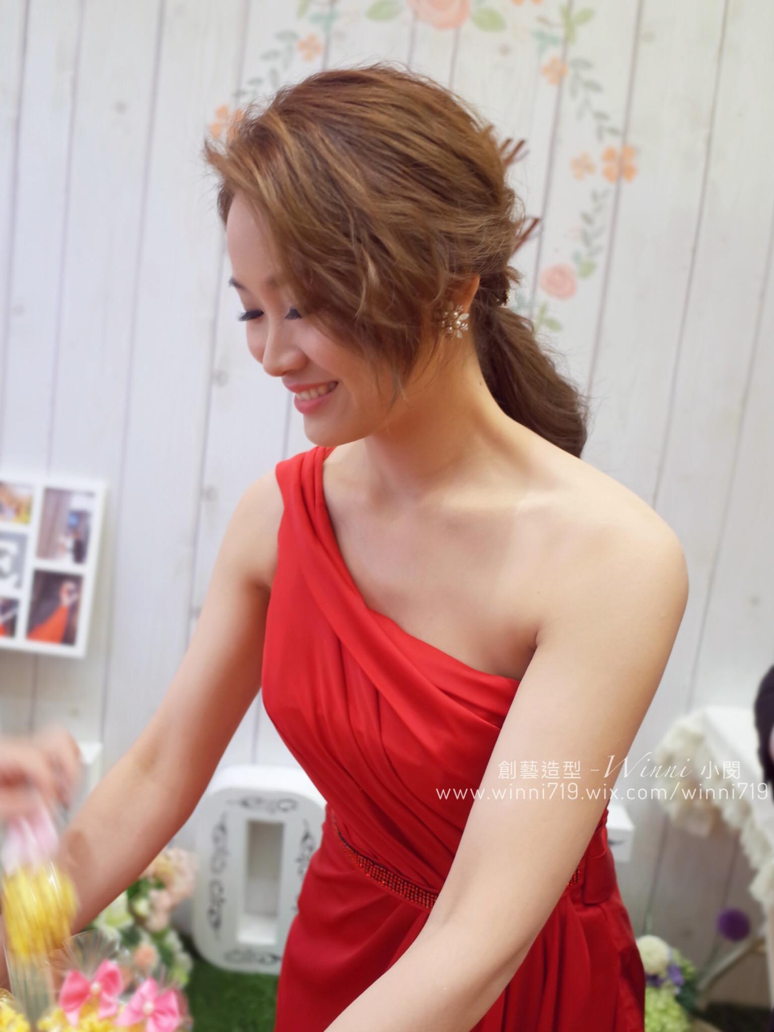 韓系低馬尾-新娘造型