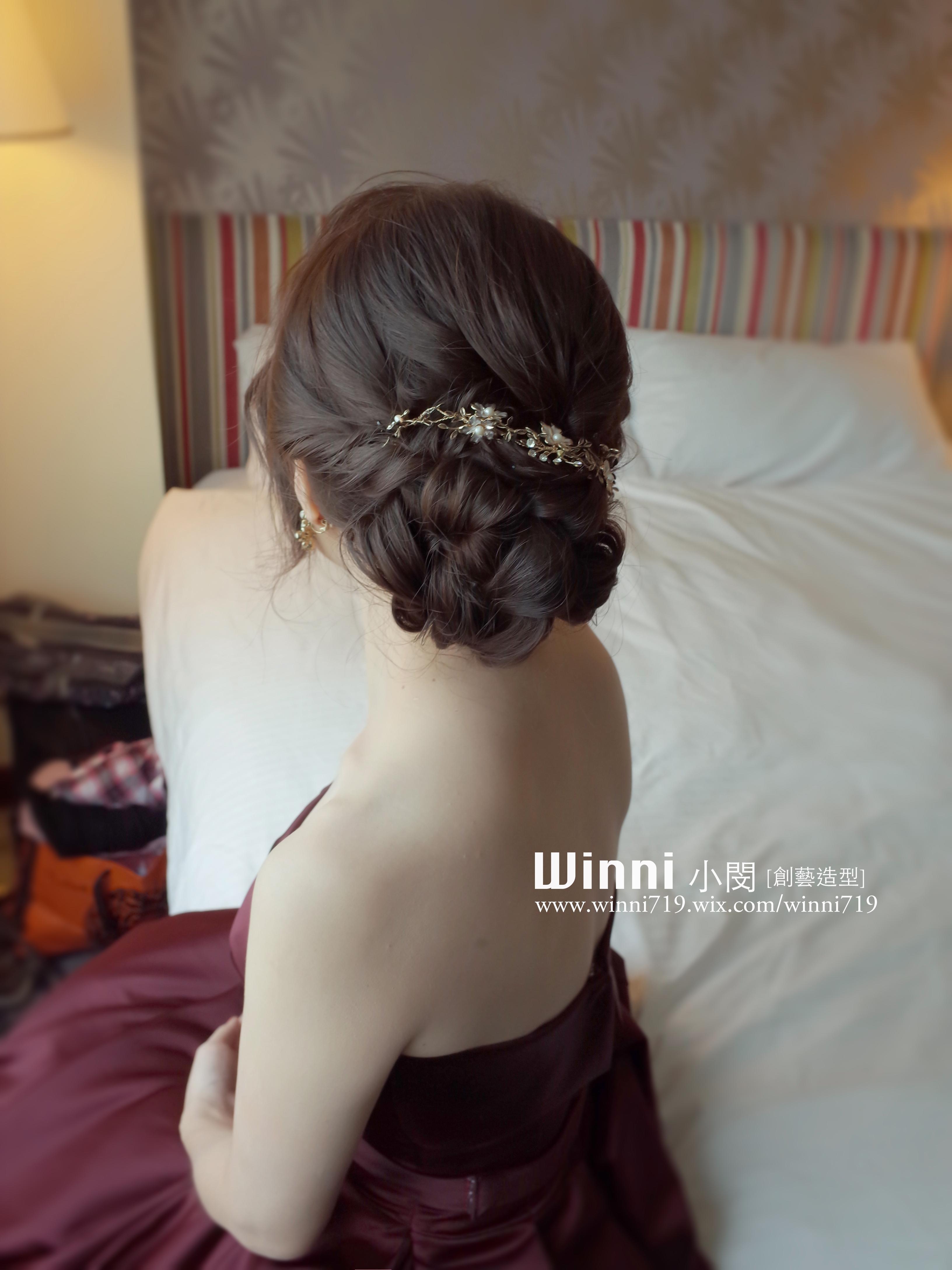 低盤髮-晚禮服造型