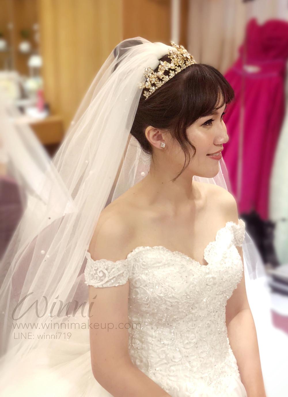 #白紗造型 #新娘造型 #高盤髮造型 #新娘妝 #皇冠造型 #高雅造型