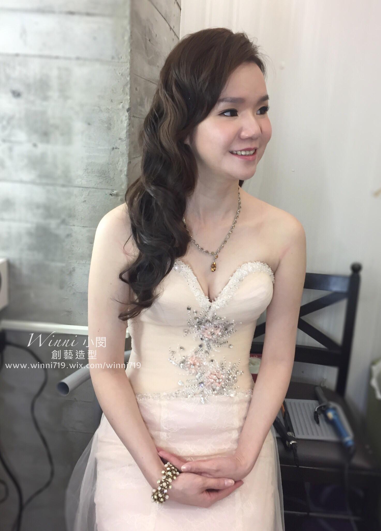 質感水波紋-新娘造型