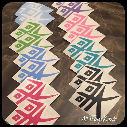 "Kabuki Logo - 1"" Vinyl Decal"