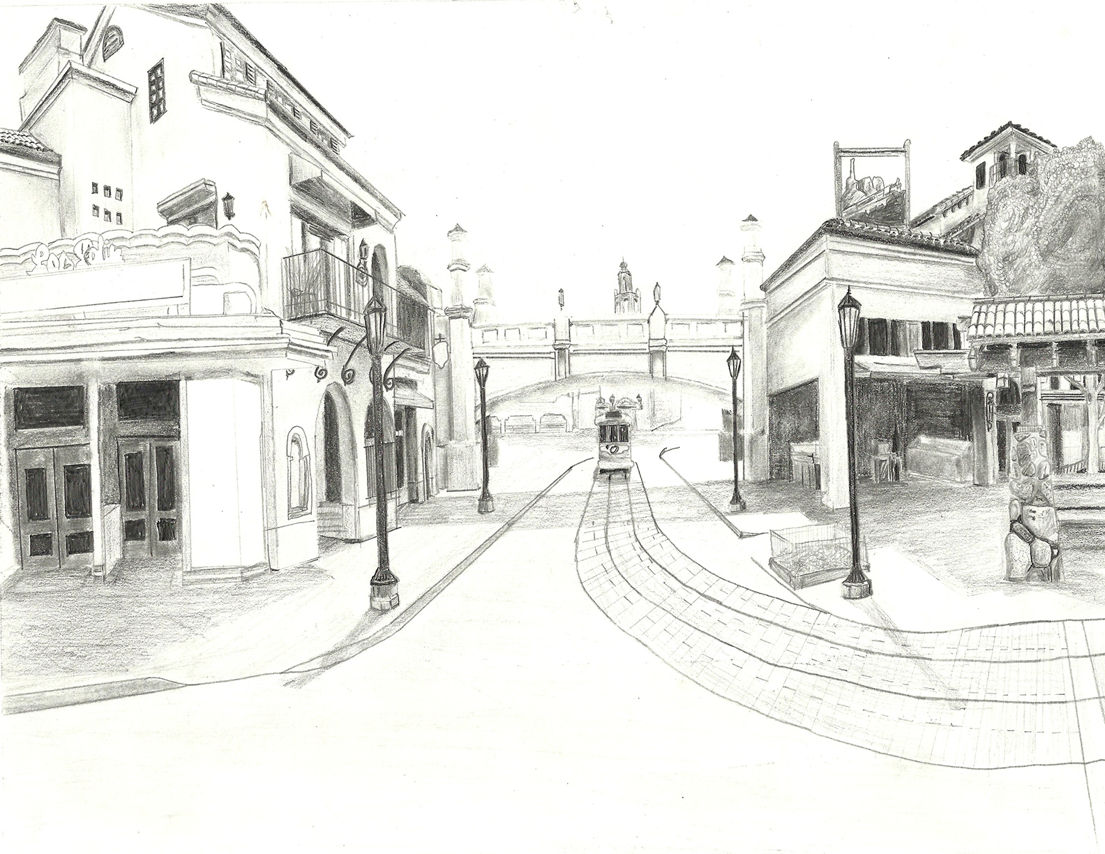 Sketch of Buena Vista Street