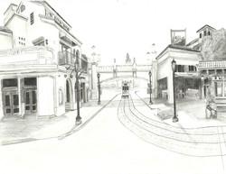 Sketch of Buena Vista Street