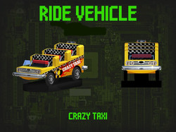 Crazy Taxi Ride Vehicle