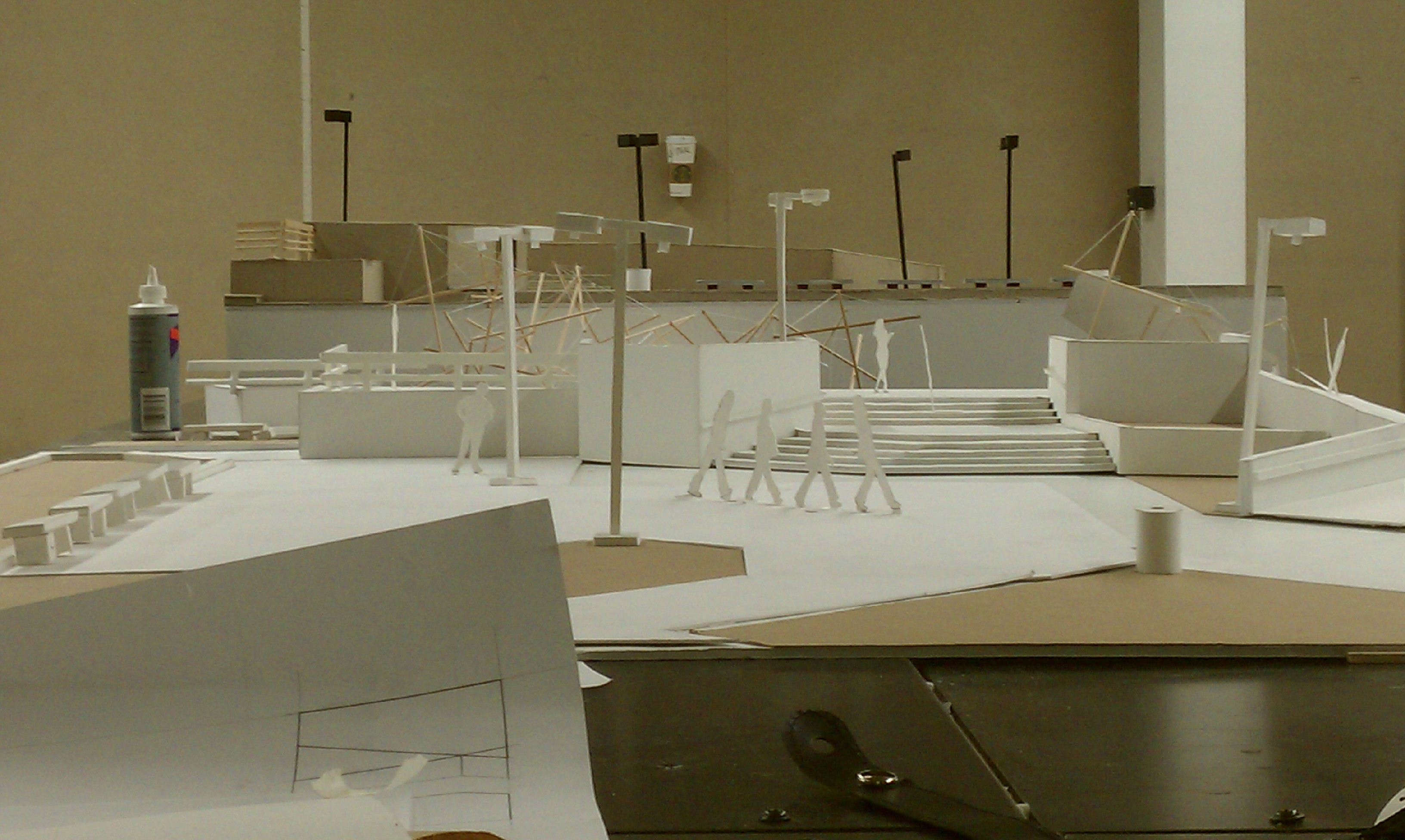 U of A Plaza 1/4th Scale Model