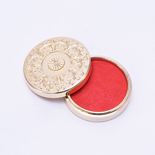 Golden red inkpad / 40mm round type