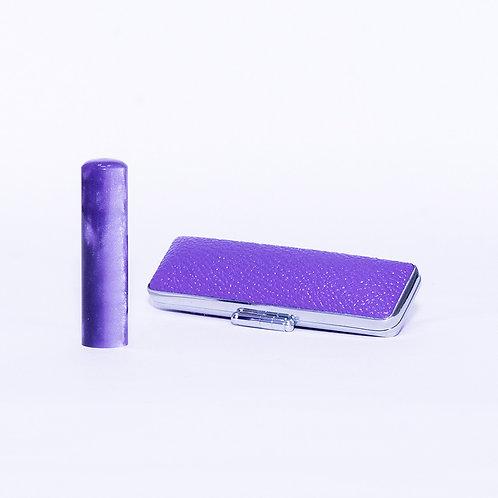 Purple Acrylic Hanko