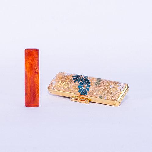Premium Amber Hanko