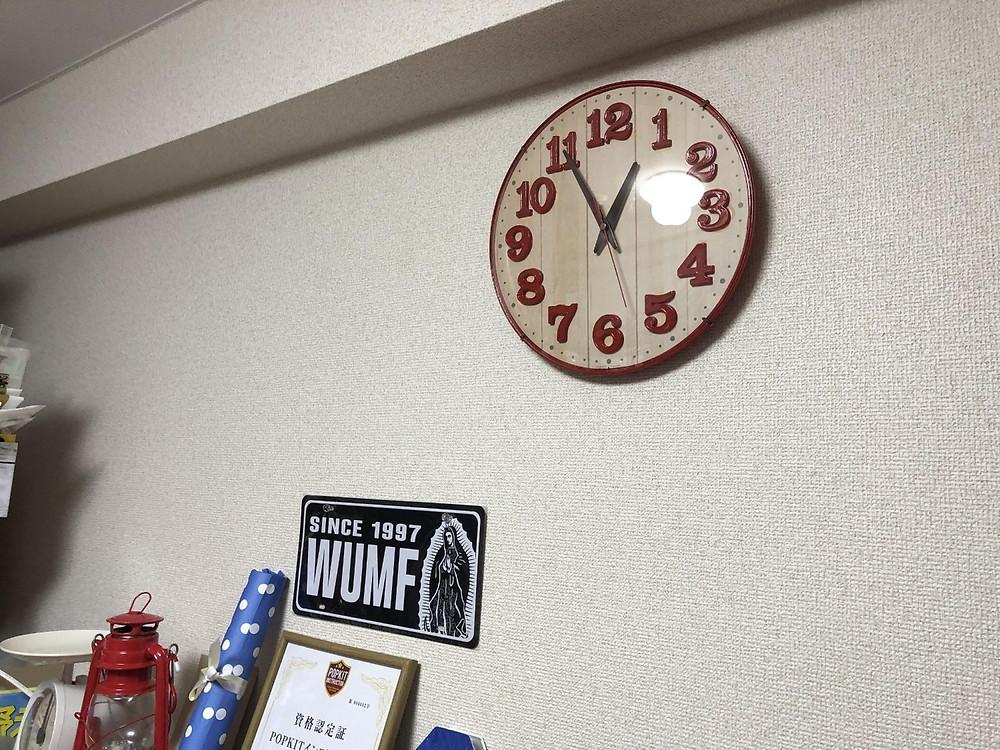 完成した時計の設置完了