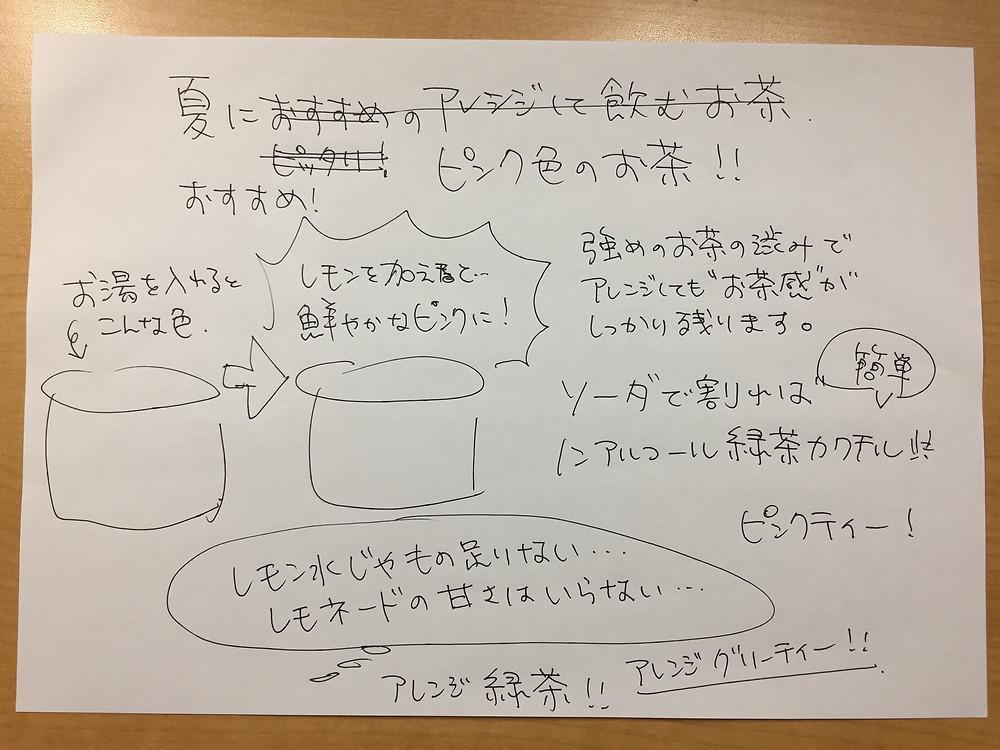手書きPOPの作り方(ラフ)