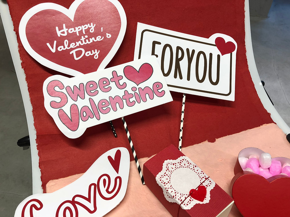 POPKITCAFEの会場もバレンタイン仕様