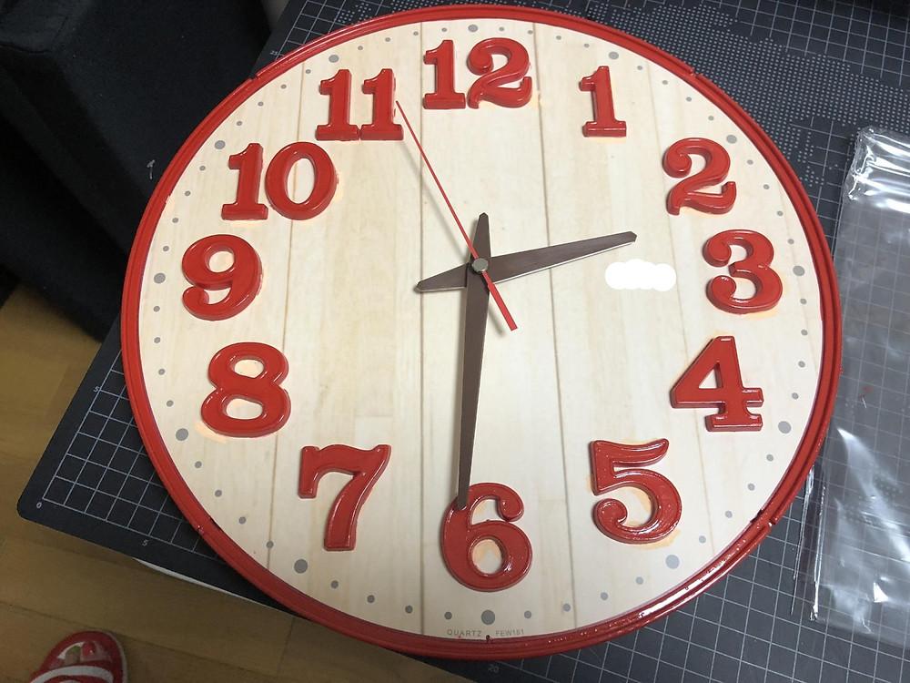 完成した時計