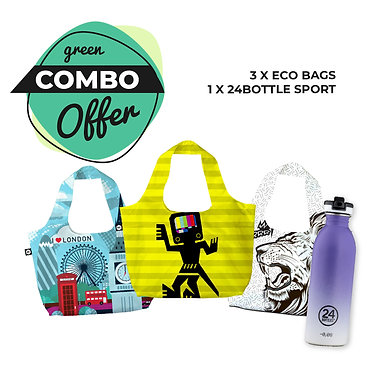 copy of COMBO OFFER 3 x Eco-Bags & 1 x Sport Lid 24Bottle