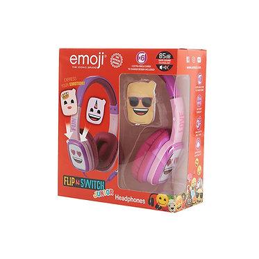 Emoji - Flip & Switch - Junior headphones Pink