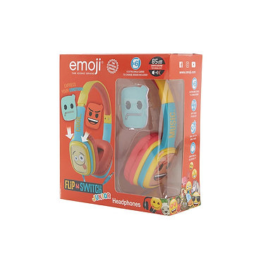 Emoji - Flip & Switch - Junior headphones Blue