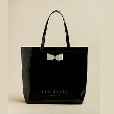 Ted Baker – HANACON Bow large icon bag | Black