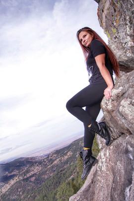Enjoying a hike on the edge.