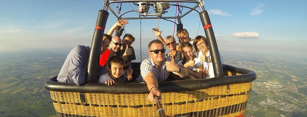 Ballonvaart - 8 deelnemers