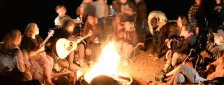 Singalong campfire