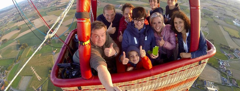 Ballonvaart - 4 deelnemers