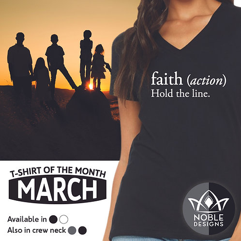 Faith: Hold the line (Tshirt)