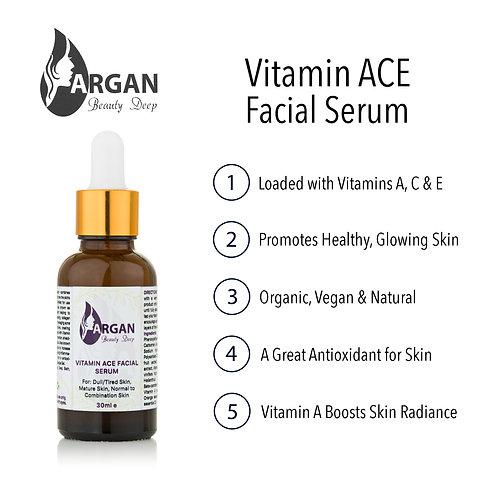 Vitamin ACE Face Serum/Natural/Organic/Vegan/Wrinkles/Fine Lines