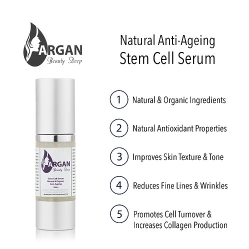 Stem Cell Serum/Organic/Natural/Vegan/New Cell Growth/Fine Lines